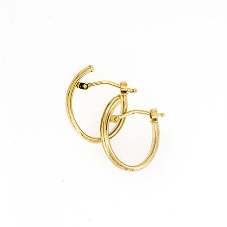 Oval Hoop Earrings in 10ct Yellow Gold