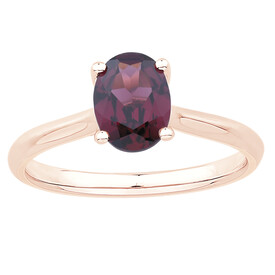 Ring with Rhodalite Garnet in 10ct Rose Gold