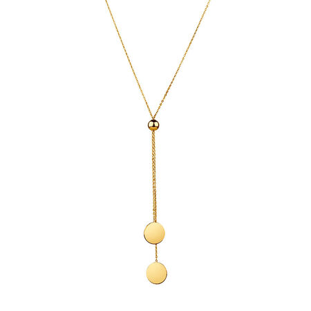 Adjustable Necklace in 10ct Yellow Gold