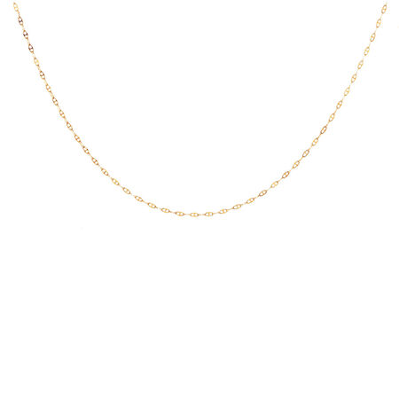 """45cm (18"""") Anchor Chain in 10ct Yellow Gold"""