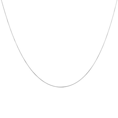 "45cm (18"") Snake Chain in 10ct White Gold"