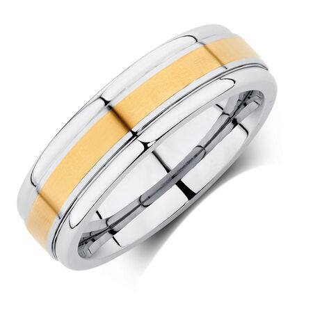 Men's Ring in Cobalt & 10ct Yellow Gold