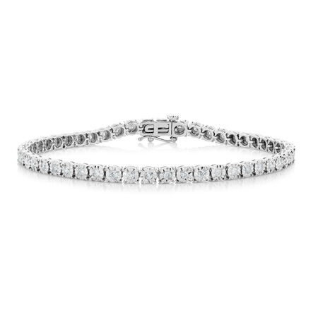 Bracelet with 1 Carat TW of Diamonds in 10ct White Gold