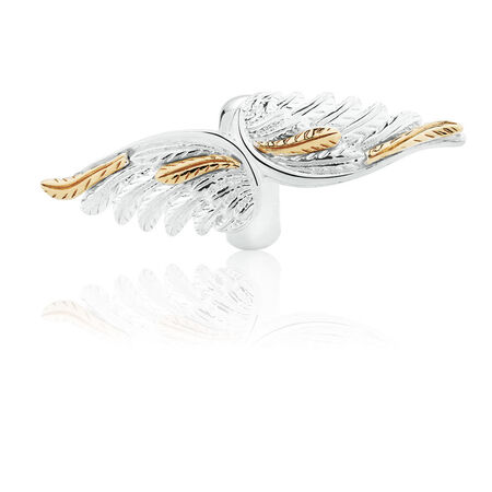 Wild Hearts Angel Wing Sleeve in Sterling Silver & 10ct Yellow Gold