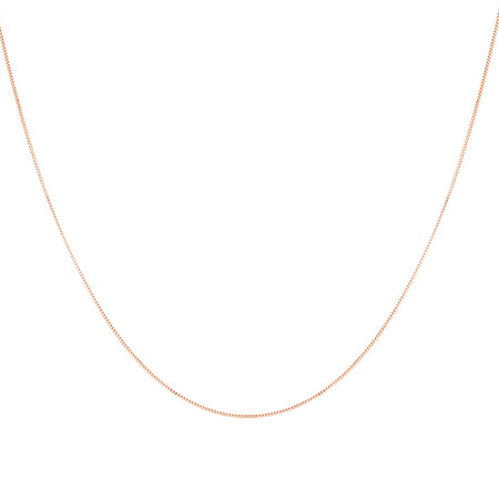 "60cm (24"") Box Chain in 10ct Rose Gold"