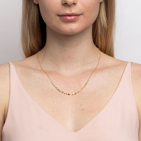 Adjustable Choker Necklace in 10ct Yellow Gold