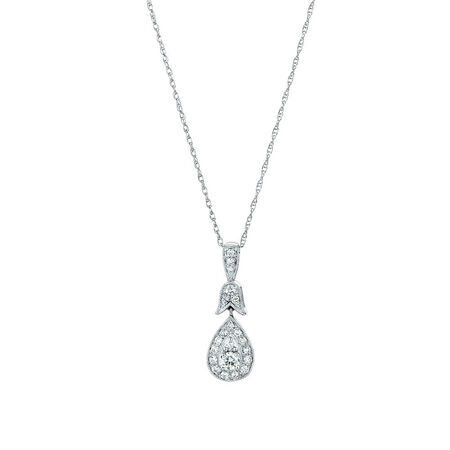 Sir Michael Hill Designer GrandAmoroso Pendant with 1/4 Carat TW of Diamonds in 10ct White & Rose Gold