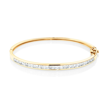 Bangle with 2 Carat TW Of Diamonds in 10ct Yellow Gold