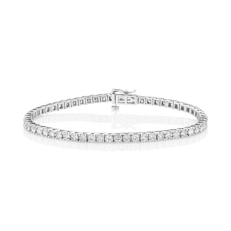 Tennis Bracelet with 5 Carat TW of Diamonds in 10ct White Gold
