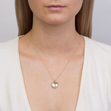 Heart Locket with Diamonds in 10ct Yellow Gold & Sterling Silver