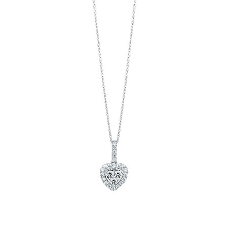 Michael Hill Designer Pendant with 0.40 Carat TW of Diamonds in 14ct White & Rose Gold