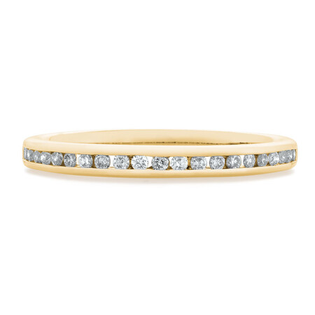 Wedding Band with 1/5 Carat TW of Diamonds in 14ct Yellow Gold