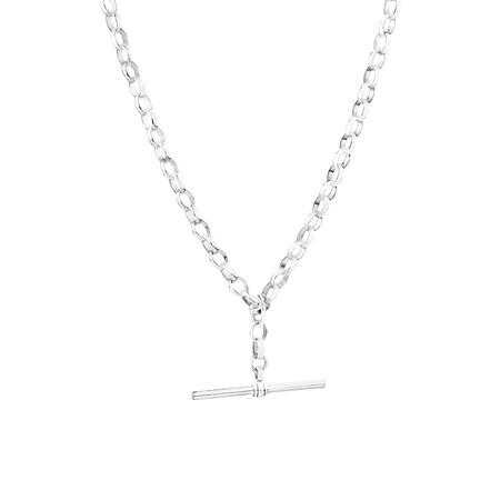 "45cm (18"") Belcher Fob Chain in Sterling Silver"