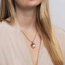 Infinitas Enhancer Pendant with Diamonds in 10ct Rose Gold