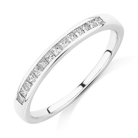 Evermore Wedding Band with 0.25 Carat TW of Diamonds in 14ct White Gold