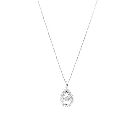 Everlight Pendant with 0.38 Carat TW Of Diamonds in 10ct White Gold