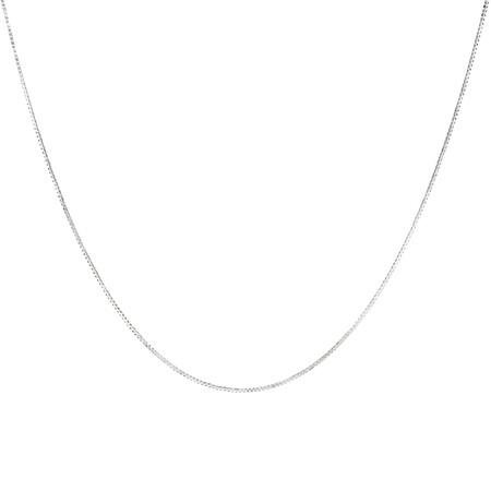 """45cm (18"""") Box Chain in 10ct White Gold"""