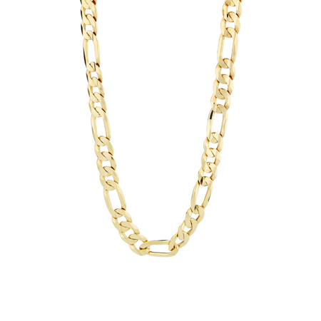 """55cm (22"""") Figaro Chain in 10ct Yellow Gold"""