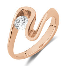Southern Star Ring with 0.40 Carat TW of Diamonds in 18ct Rose Gold
