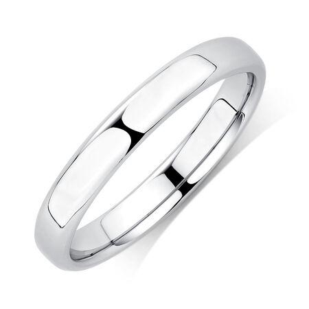 Wedding Band in Platinum