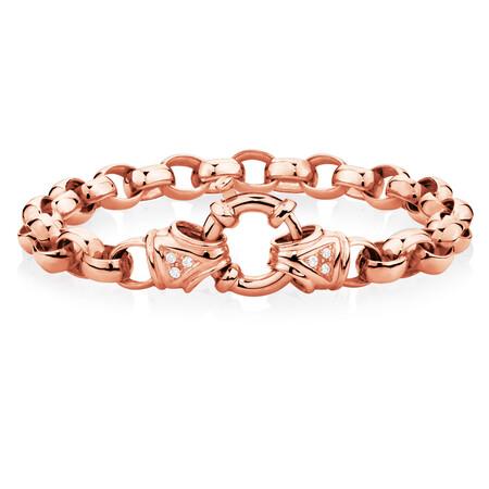 "21cm (8.5"") Diamond Set Bracelet in 10ct Rose Gold"