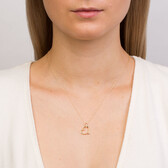 Heart Pendant with A Diamond in 10ct Yellow Gold
