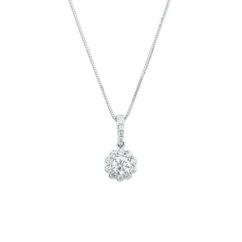 Southern Star Pendant with 0.38 Carat TW of Diamonds in 14ct White Gold