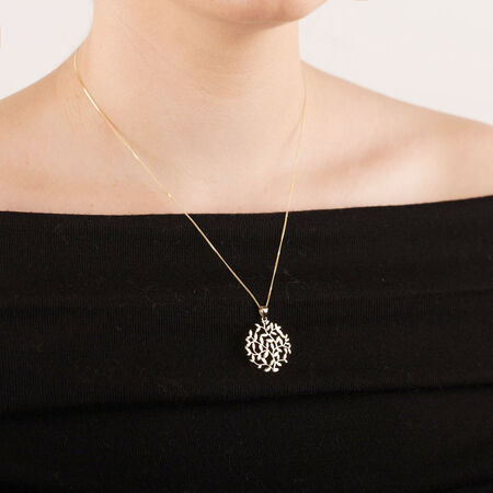 Olive Leaf Pendant in 10ct Yellow Gold