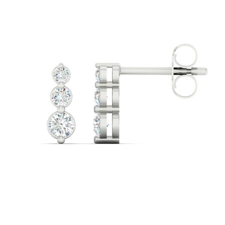 Drop Stud Earrings with 0.30 Carat TW of Diamonds in 10ct White Gold