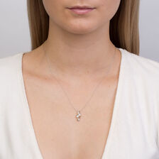By My Side Pendant with 0.15 Carat TW of Diamonds in 10ct White & Yellow Gold