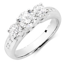 Evermore Engagement Ring with 1 1/2 Carat TW of Diamonds in 18ct White Gold