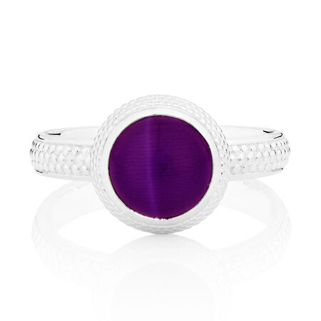 Violet Cats Eye Stack Ring