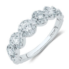 Ring with 3/4 Carat TW of Diamonds in 14ct White Gold