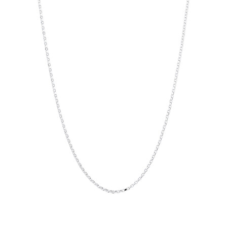 "50cm (20"") Diamond Cut Belcher Chain in 18ct White Gold"