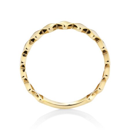 Kite Shaped Stacker Ring in 10ct Yellow Gold