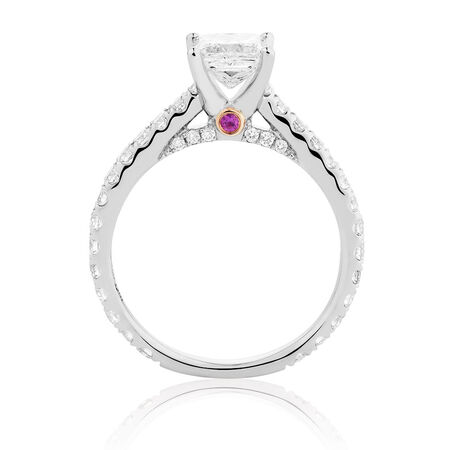 Sir Michael Hill Designer GrandAria Engagement Ring with 1.71 Carat TW of Diamonds in 14ct White Gold