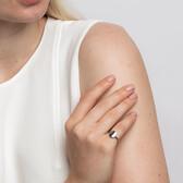 Plain Mini Signet Ring In Sterling Silver