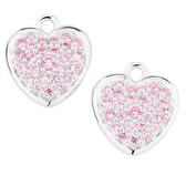 Pink Cubic Zirconia Heart Earring Drops