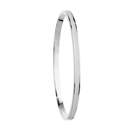 Online Exclusive - Enamel Bangle in Sterling Silver