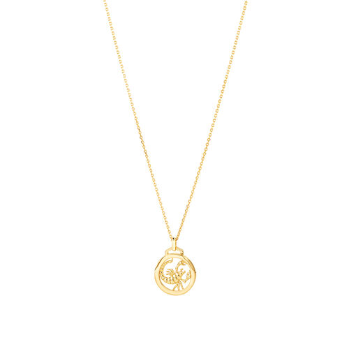 Scorpio Zodiac Pendant with Chain in 10ct Yellow Gold