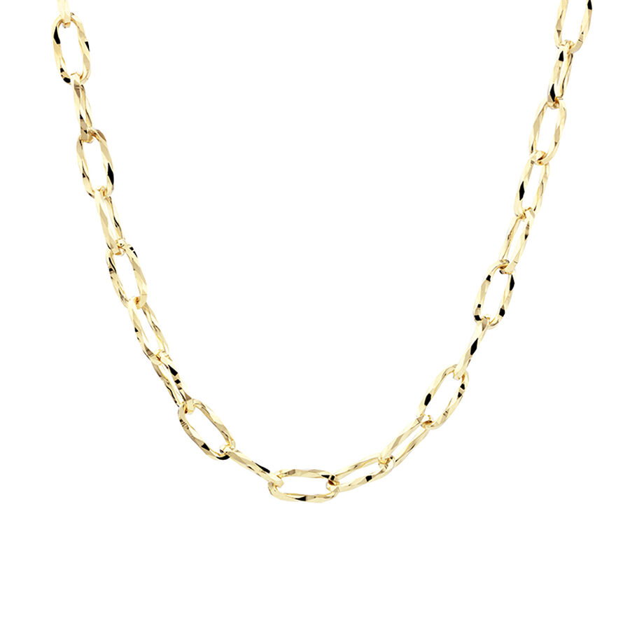 50cm Hollow Oval Link Chain in 10ct Yellow Gold