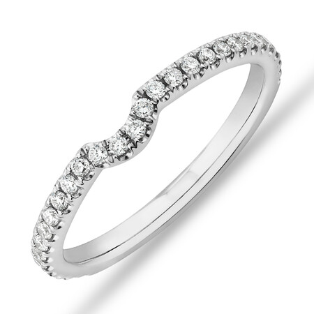 Sir Michael Hill Designer Wedding Band with 0.22 Carat TW of Diamonds in 18ct White Gold