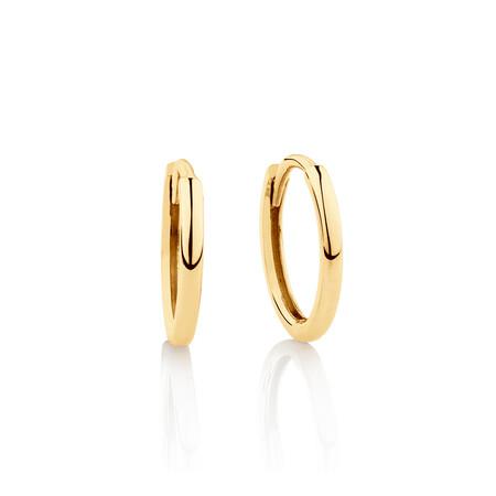 Mini Hoop Earrings in 10ct Yellow Gold