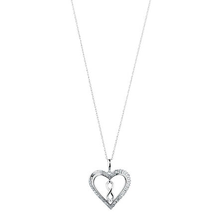 Infinitas Pendant with 1/4 Carat TW of Diamonds in Sterling Silver