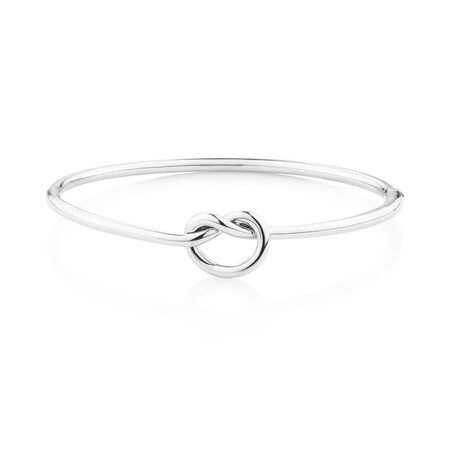 Knot Bangle in Sterling Silver