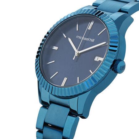 Ladies Watch in Blue Tone Stainless Steel