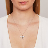 Dragonfly Pendant with Cubic Zirconias in Sterling Silver
