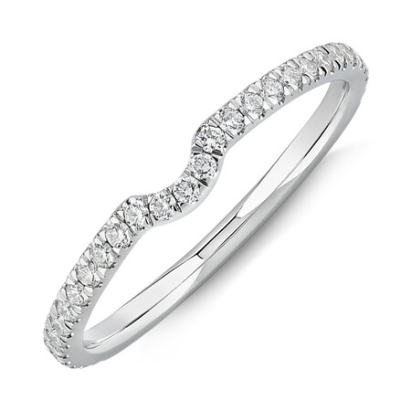 Sir Michael Hill Designer Wedding Band with 0.23 Carat TW of Diamonds in 18ct White Gold