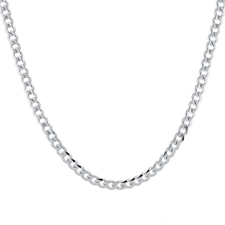 """60cm (24"""") Men's Curb Chain in Sterling Silver"""