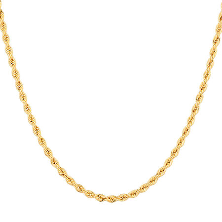 "45cm (18"") Rope Chain in 10ct Yellow Gold"